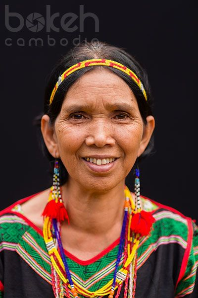 Portrait of a Bunong hill tribe woman in traditional dress | Mondulkiri Province, Cambodia