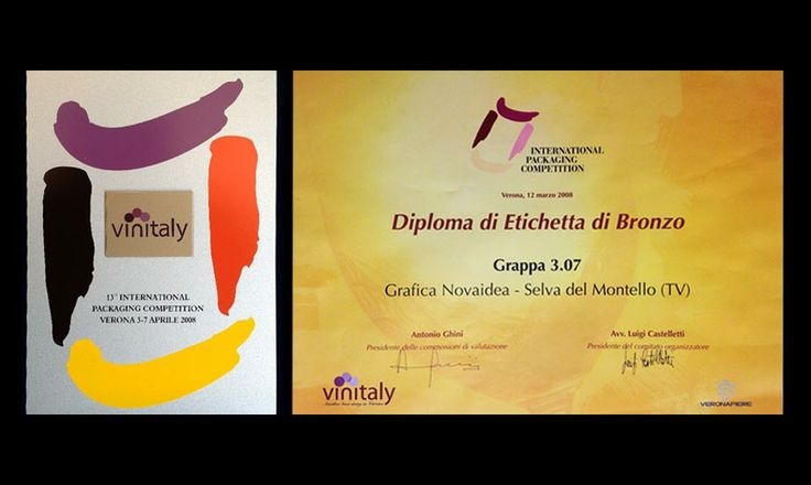 Premi Novaidea Etichetta Bronzo Vinitaly Verona