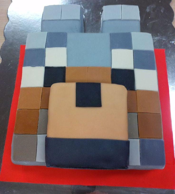 Minecraft wolf cake