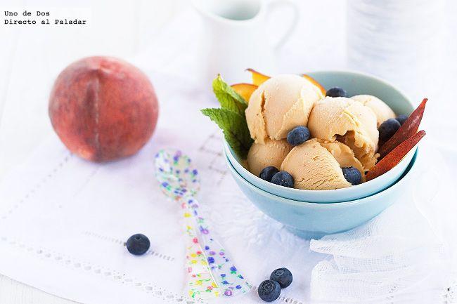 Receta de helado de melocotón.Receta con fotos del paso a paso y sugerencias de presentación.Trucos y consejos de elaboración.Recetas de...
