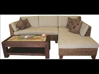 Balinese Wicker Outdoor Baya Corner Daybed with Chaise - Lounge ...