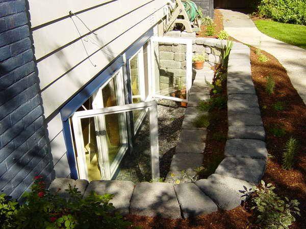 egress window ideas basement egress windows with stone home