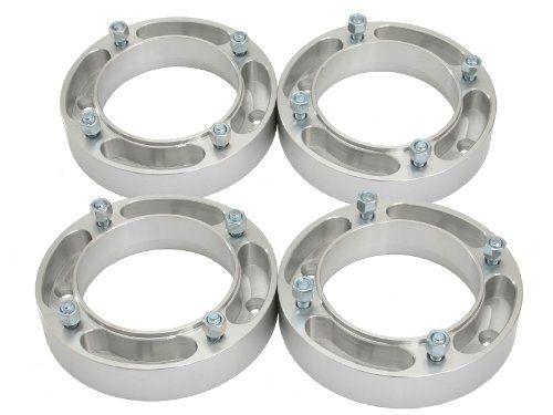 "(4) 2"" Thick 4x156 ATV Wheel Spacers with 3/8"" Studs/Nuts for many Polaris & Kawasaki: Outlaw (Front Only) Predator Ranger RZR Sportsman XP Lakota Mojave Tecate (4/156) Silver. For product info go to:  https://www.caraccessoriesonlinemarket.com/4-2-thick-4x156-atv-wheel-spacers-with-38-studsnuts-for-many-polaris-kawasaki-outlaw-front-only-predator-ranger-rzr-sportsman-xp-lakota-mojave-tecate-4156-silver/"