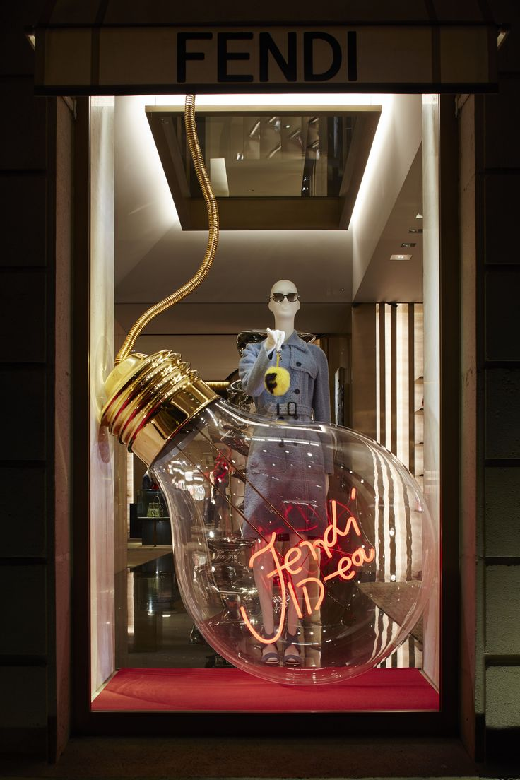 The Fendi ID-ea capsule collection displayed in the new boutique window theme in Paris