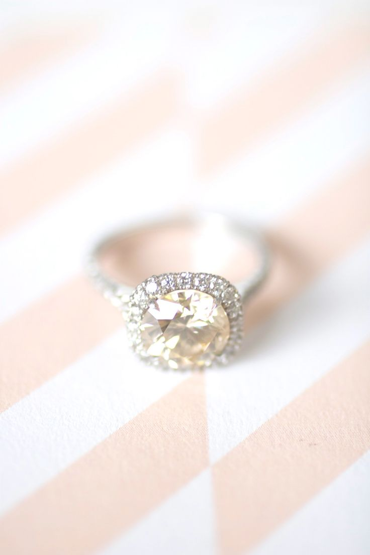 Grey's Champagne Diamond Ring Wedding Blog It Started with a Ring
