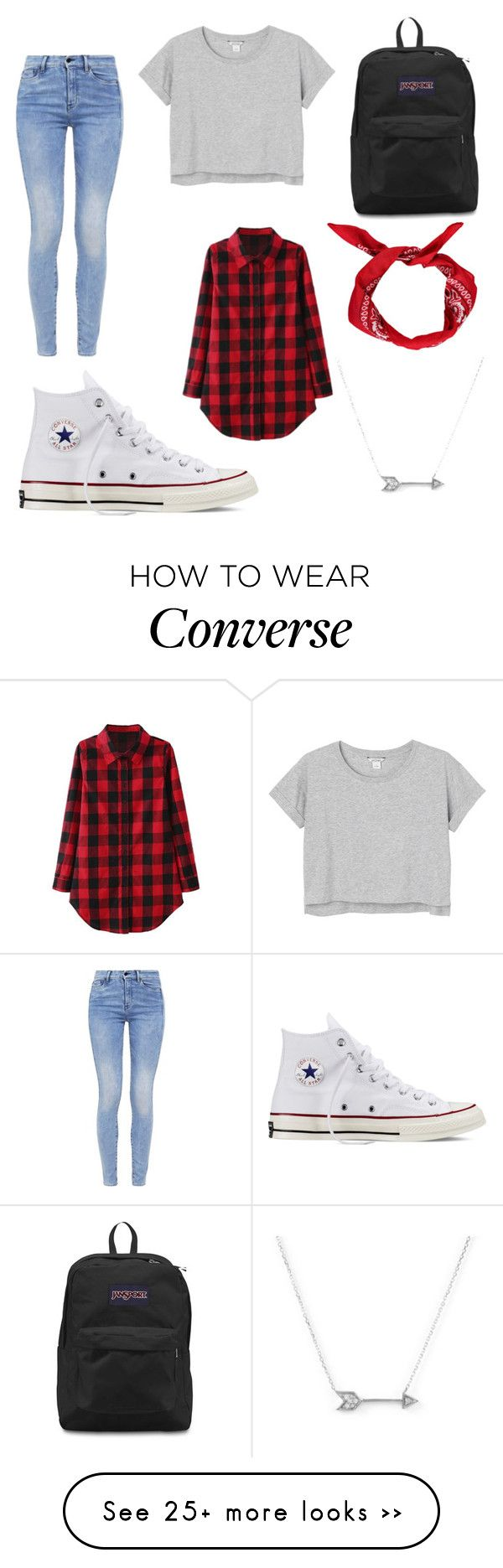 """Hipster girl"" by sachim1 on Polyvore featuring мода, Converse, G-Star, Monki, JanSport и Adina Reyter"