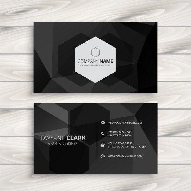 19 best freepik images on pinterest business cards lipsense black business card with hexagonal logo reheart Images