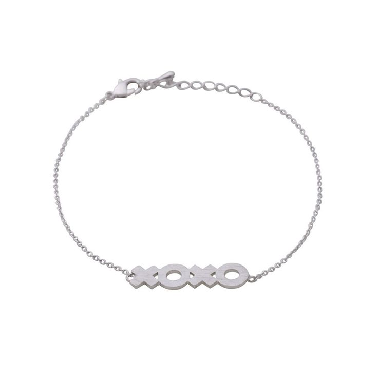 Contemporary XOXO silver bracelet, $10