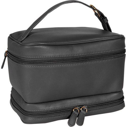 Royce Ladies Cosmetic Travel Case - Leather - Black - Black Royce Leather. $86.99. Save 35% Off!