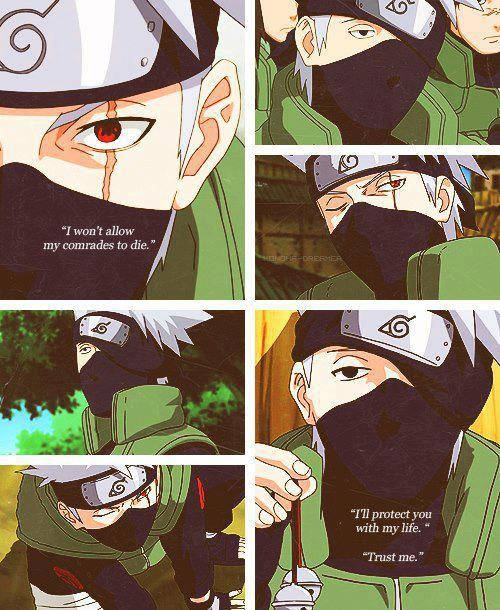 Kakashi- probably my favorite Naruto character :-D