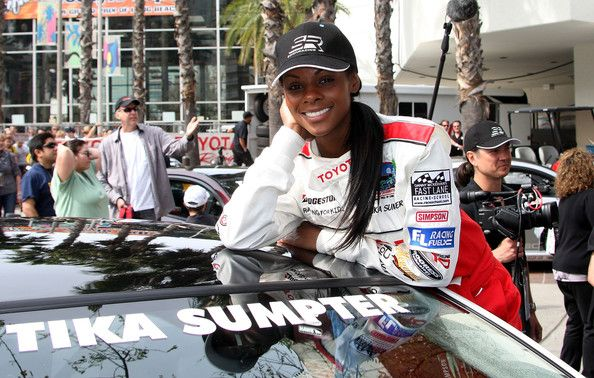 Tika Sumpter Logo Baseball Cap - Tika shows her Grand Prix pride in this logo baseball cap at the Toyota Pro Celebrity Race.