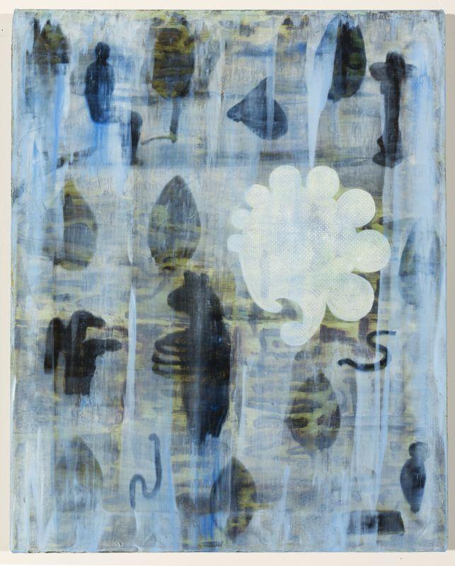 Barbara Tuck, Long Rain, 1999, Oil on canvas, 508 x 405mm, from Iris Gate