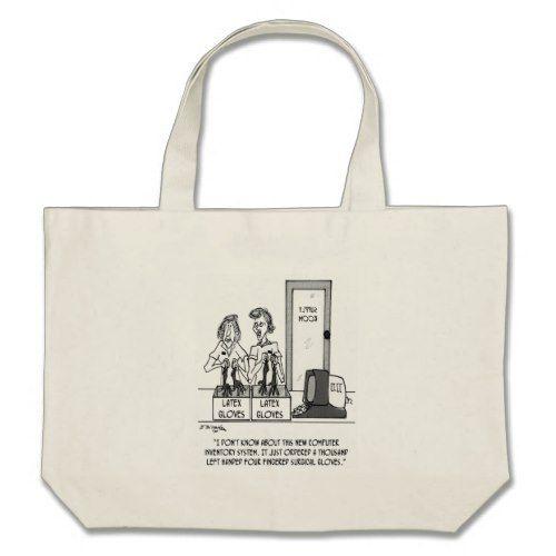 Hospital Cartoon 1830 Large Tote Bag