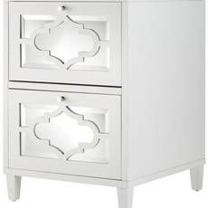 White Wood Filing Cabinets
