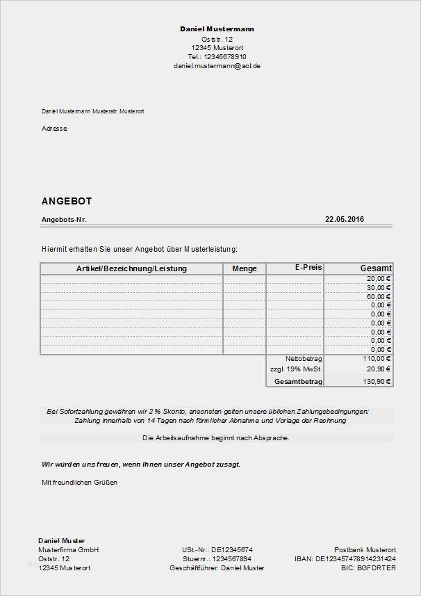 32 Genial Angebot Erstellen Vorlage Kostenlos Ideen Briefkopf Vorlage Geschaftsbrief Vorlage Vorlagen