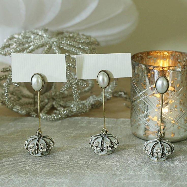 silver heart wedding place card holders%0A Table Number Holders     Inspiring Ideas  Wedding Place Card