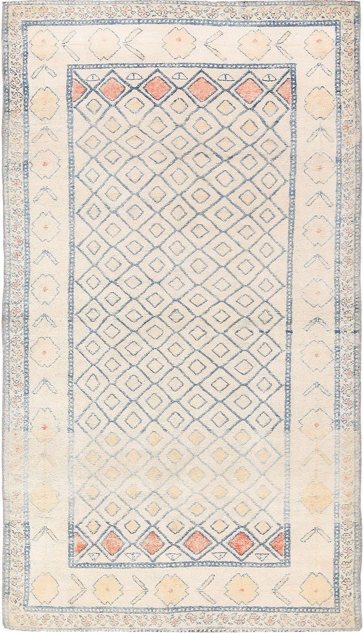 Small Decorative Antique Indian Cotton Agra Rug 49148