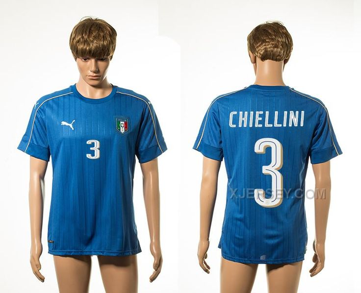 http://www.xjersey.com/italy-3-chiellini-home-euro-2016-thailand-jersey.html ITALY 3 CHIELLINI HOME EURO 2016 THAILAND JERSEY Only 33.11€ , Free Shipping!