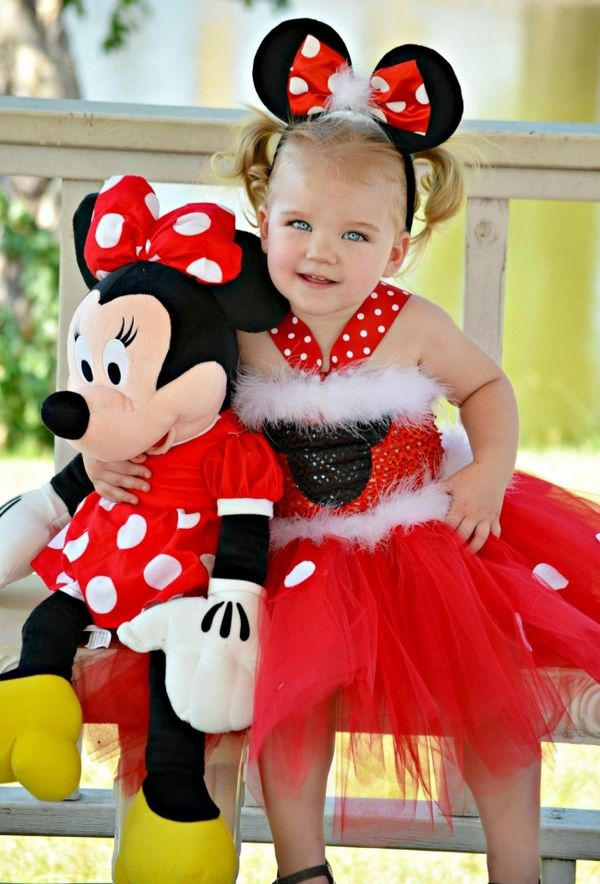 infant girl halloween costumes mini mouse tutu ears doll