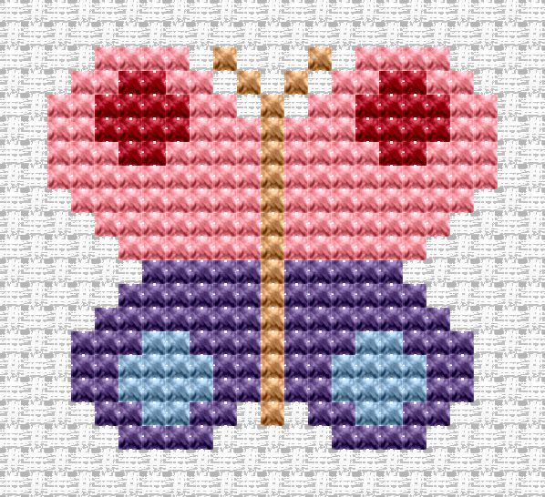 Easy Peasy Butterfly cross stitch kit