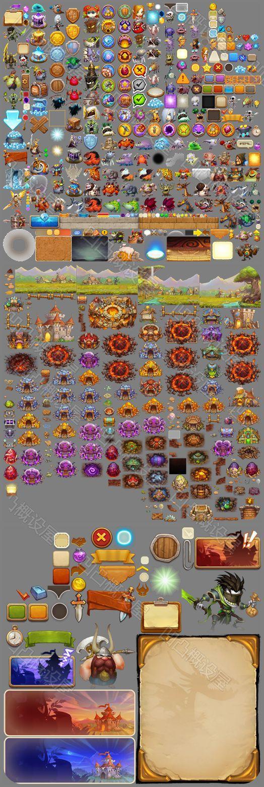 怪物也嚣张 游戏美术资源/Q版 UI素材/界面 图标 特效 贴图 音效-淘宝网全球站