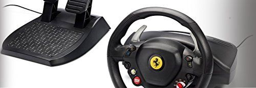 """The Thrustmaster Racing Wheel for Xbox360 is a replica of the """"Ferrari 458 Italia"""" wheel. For the first time ever on Xbox 360 - A replica Ferrari wheel at an attractive price, for passion and racing excitement. Never before has a true replica wheel been so accessible for Xbox 360 gamers. The..."""