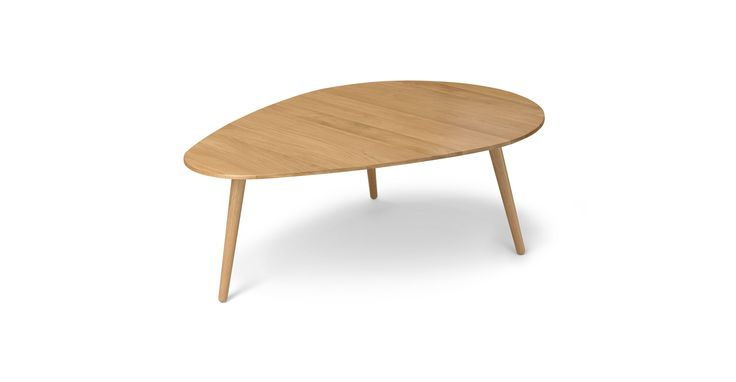"Amoeba Wild Oak 42.5"" Wide Coffee Table - Coffee Tables - Article | Modern, Mid-Century and Scandinavian Furniture"