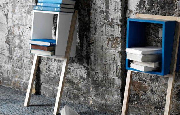 Lean Man Side Table, la mensola che diventa libreria, tavolino o comodino. Ideale per i piccoli spazi in mansarda.