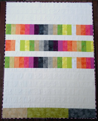 'Colourstory' Qld flood appeal quilt (back) by @Rita - Red Pepper Quilts