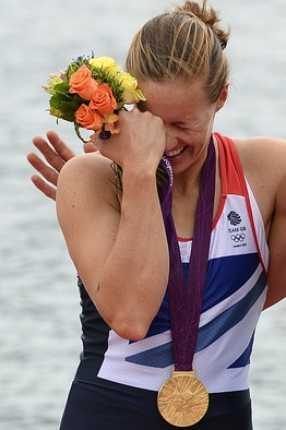 Helen Glover, part of Great Britain's gold medal-winning women's team in the pair rowing event. (Photo: AFP/Getty Images) - http://www.PaulFDavis.com/success-speaker (info@PaulFDavis.com) www.Facebook.com/speakers4inspiration www.Twitter.com/PaulFDavis