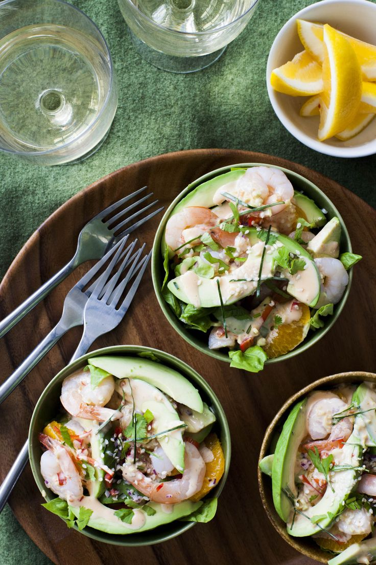 Asian Avocado, Prawn and Orange Salad By Nadia Lim