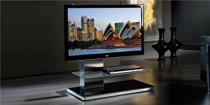 Support TV sur Pied Fixe SY340GE Fumé