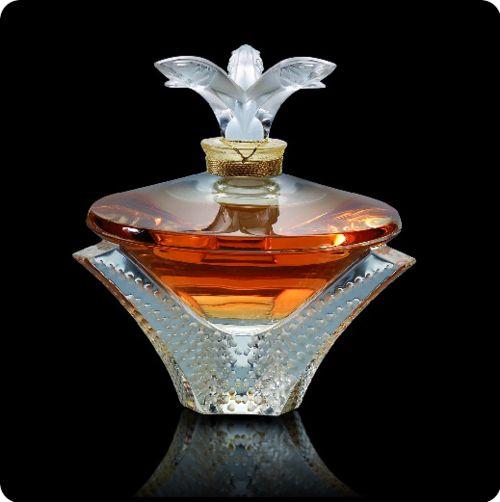 Crystal perfume bottles Lalique