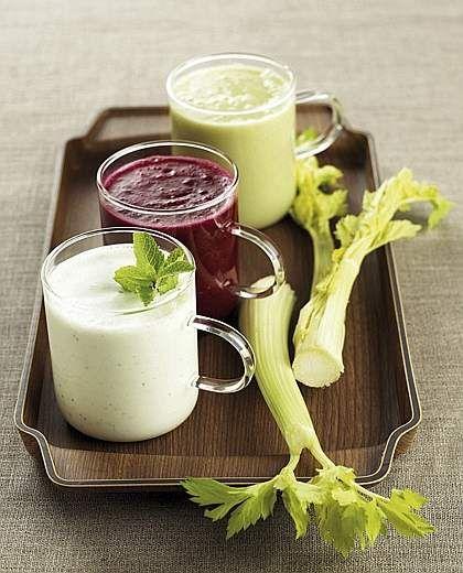 Bevande alla barbabietola, al sedano e allo yogurt