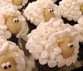 sheep cupcakes, easy cake decorating