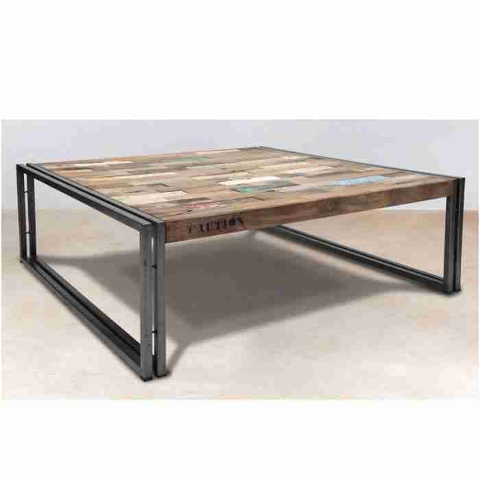 Table Basse Bois Et Fer Forge Nice Table Basse En Bois 100 Cm Industry Achat Vente Bar