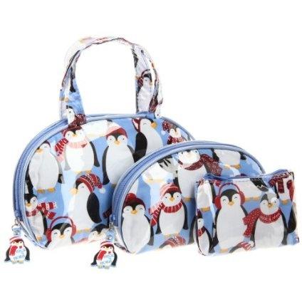 Nick & Nora Women`s Deluxe Dome Set Penguins N11070DD Satchel,Penguins,One Size $31.00 @Amazon - hannah  tj