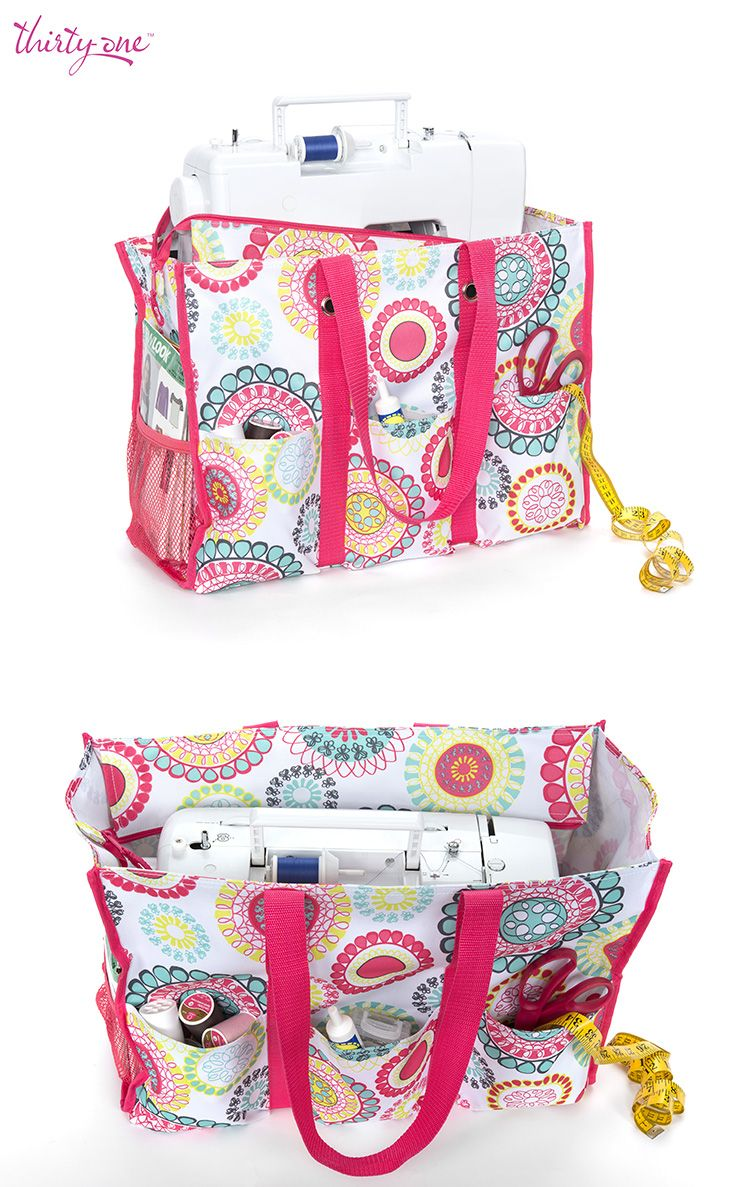 Sew Cute! Our Super Organizing Tote is a great place to store your sewing machine – especially if you like to sew on the go. www.mythirtyone.com/292830