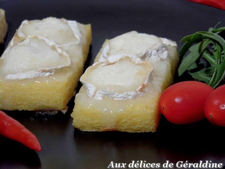 Aux délices de Géraldine: Toast de polenta au chèvre chaud