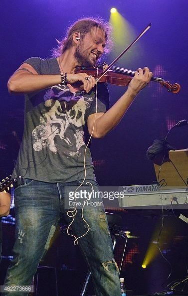 David Garrett performs at Vivo Rio on July 28, 2015 in Rio de Janeiro, Brazil.