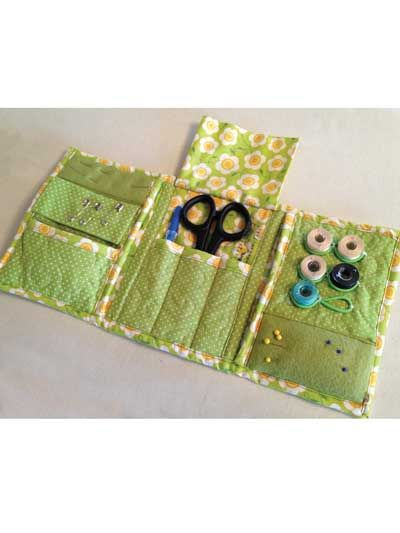 Tri fold sewing kit