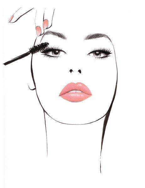 Makeup Drawing: Lash By Lash Art Print