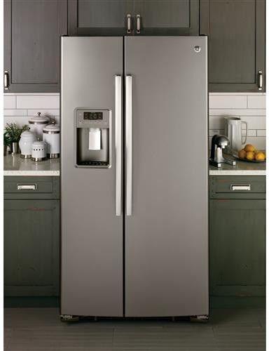 GE 25.4 Cu. Ft. Slate Side-by-Side Refrigerator