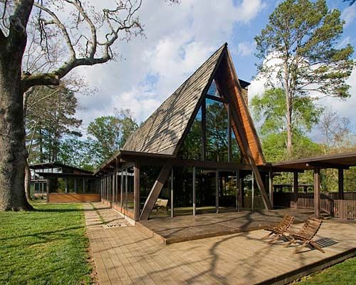 a frame houses | The A-frame is the epic combo of modern meets mountain meets retro ...
