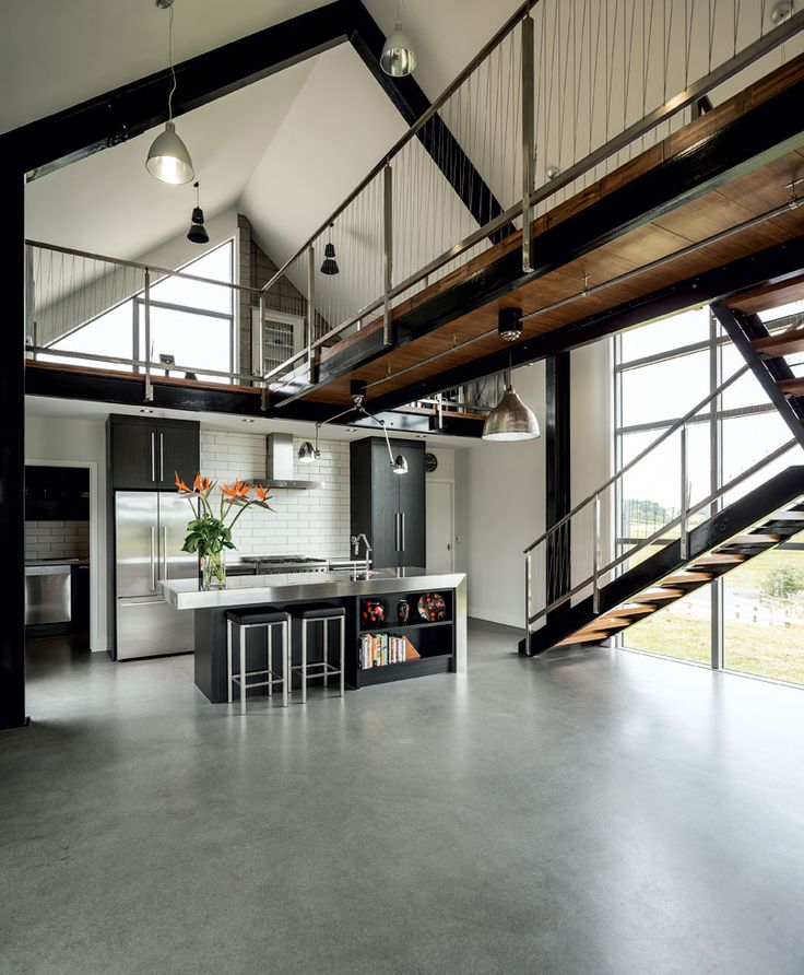 The Double Height Space Is Punctuated By The Catwalk