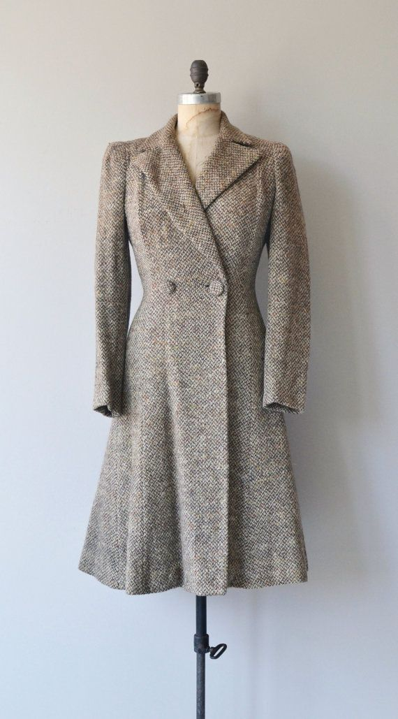 Literary League coat 1930s wool coat vintage 30s by DearGolden