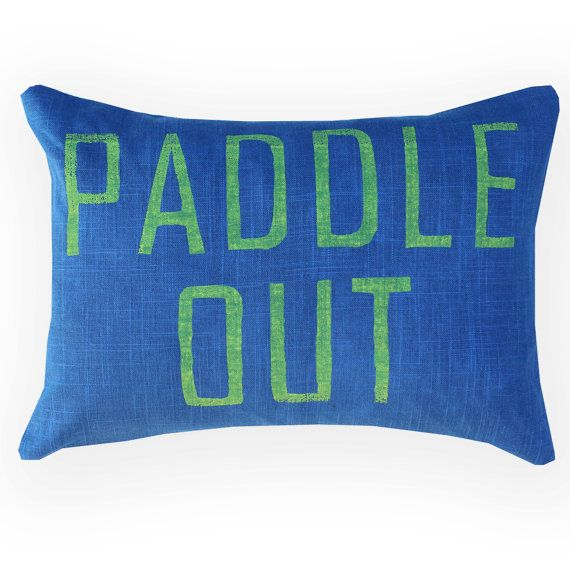 Surf Decor / Surf Pillow / Paddle Out / Decorative by NestaHome