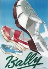 Original vintage poster BALLY LADIES SUMMER SHOES c.1945