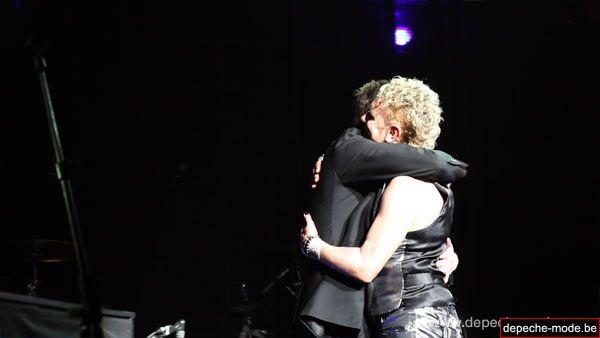 Alan Wilder and Martin Gore on stage in 2010 @ London