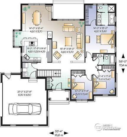 Les 13 meilleures images propos de plan maison sur pinterest villas plan - Plan de maison americaine ...